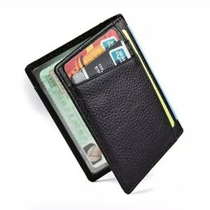 Super Slim RFID Fraud blocking leather wallet